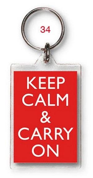 General Personalised Keep Calm Keyring