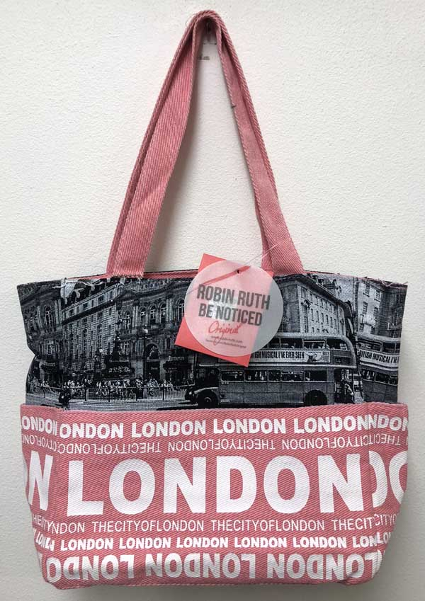 Robin Ruth Pink Black Bag LONDON Large & Small
