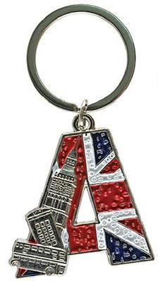 London Alphabet Keyrings