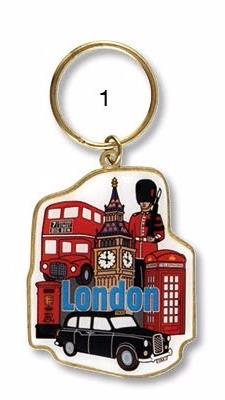 London Metal Shaped & Cut Out Metal Keyrings
